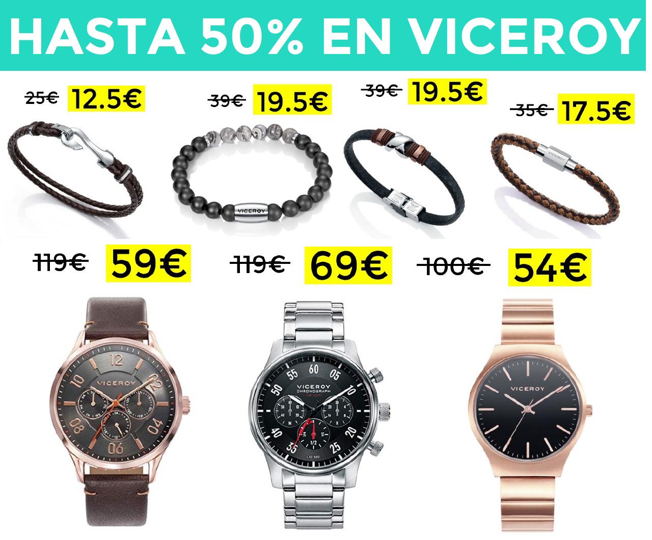 Hasta 50% en Viceroy joyería y relojes