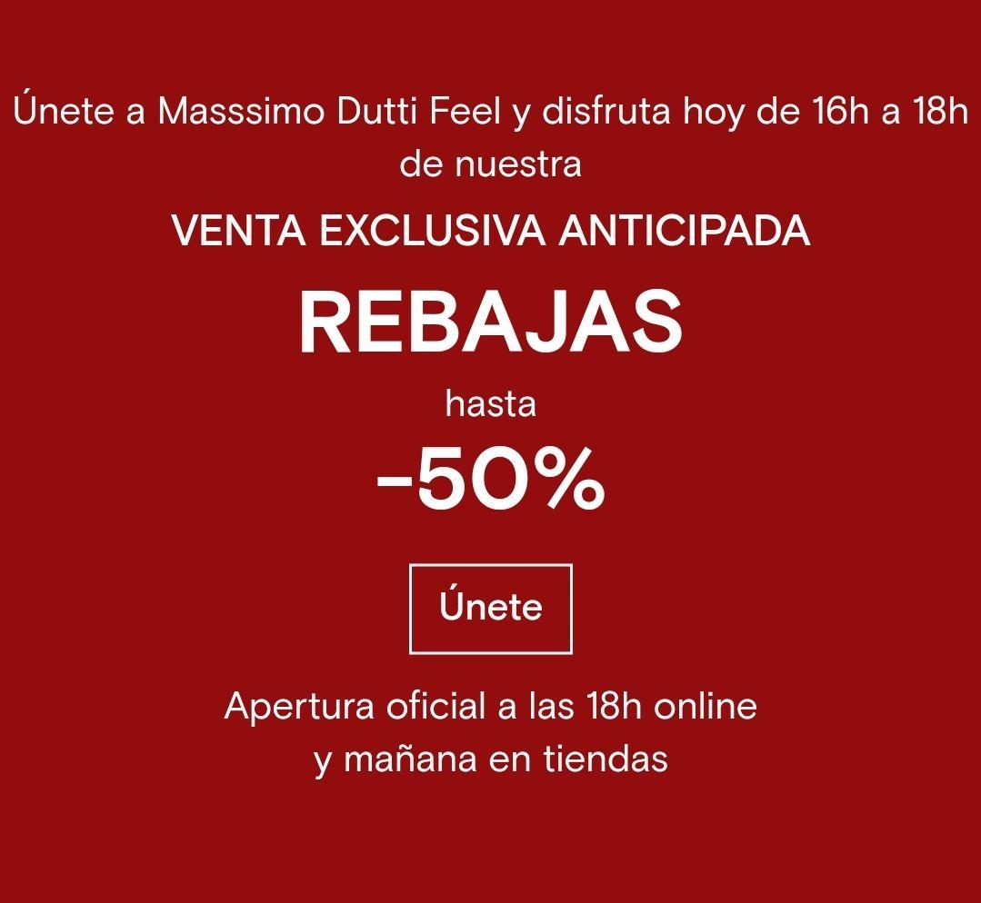 Descuento 50% en Massimo Dutti