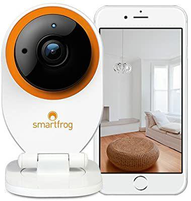 Cámara vigilancia Smart Frog con 1 mes suscripción y visión nocturna por infrarrojos (vendido y enviado por amazon)