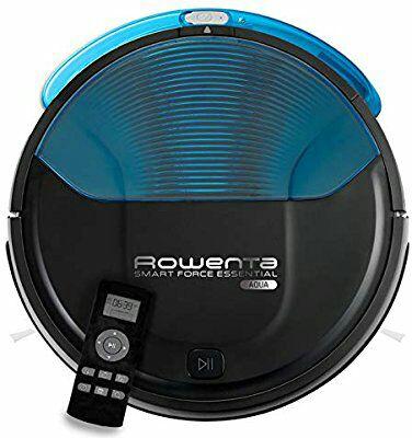 Rowenta Smart Force Essential Aqua RR6971WH - Robot aspirador 2 en 1, aspira y friega, con sensores anticaída (REACO, Muy bueno)