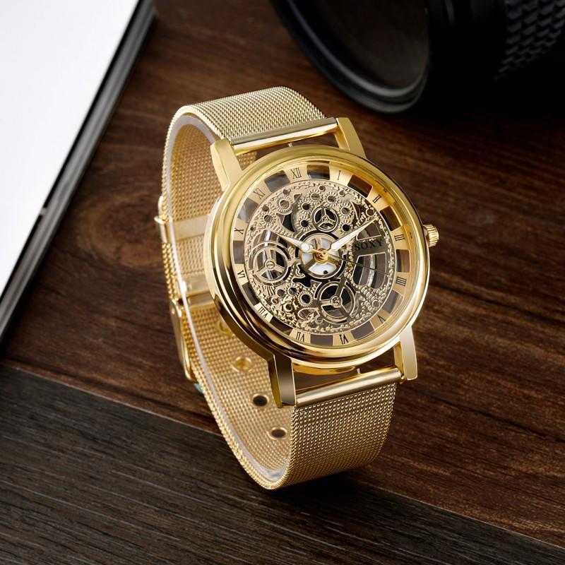 Reloj SOXY tipo esqueleto Quartz acero inox lujo