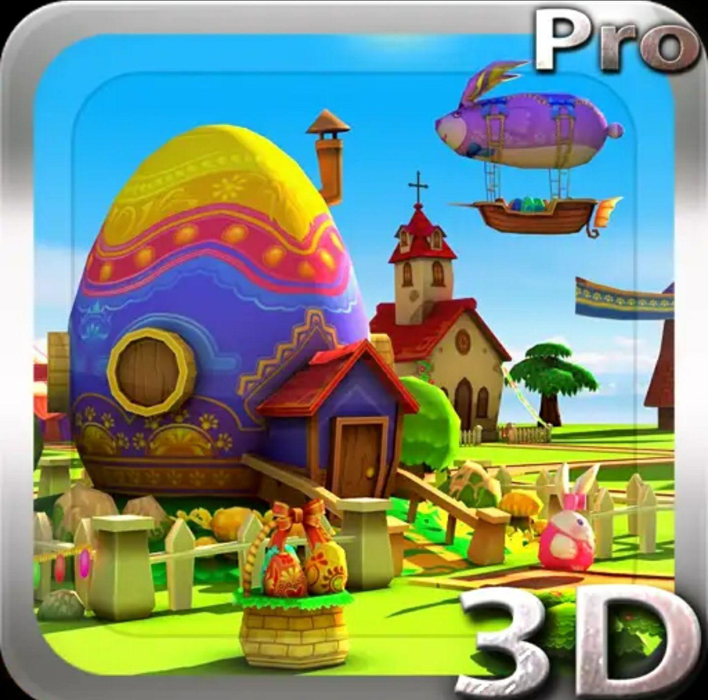 (Android) Fondo de pantalla animado en 3D de Pascua