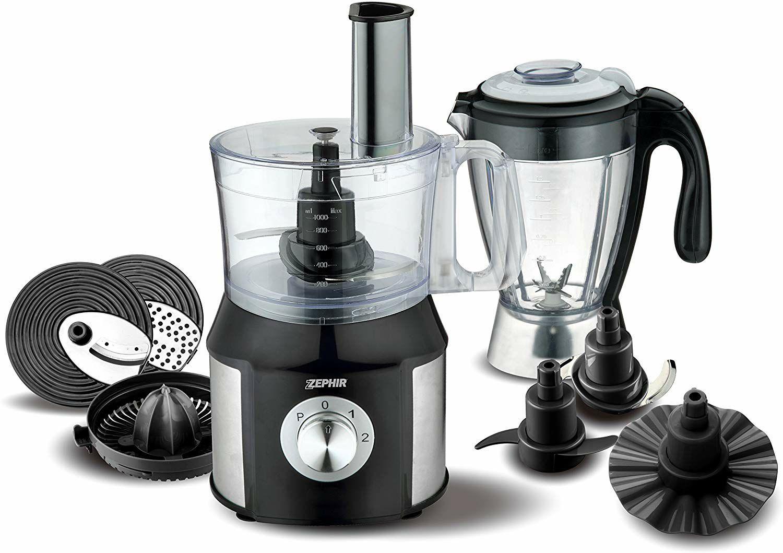 Zephir zhc1600Robot de cocina multifunción, 24x 21x 36cm, acero, plata