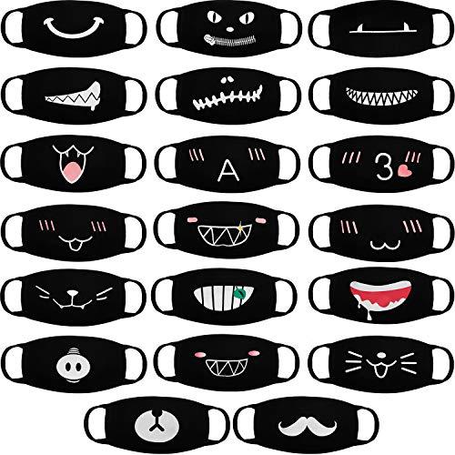 20 mascaras bucales con dibujos