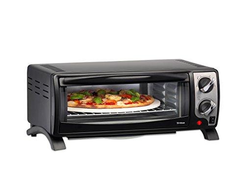 Horno de pizza, 13 L, 1400 W, Color Negro