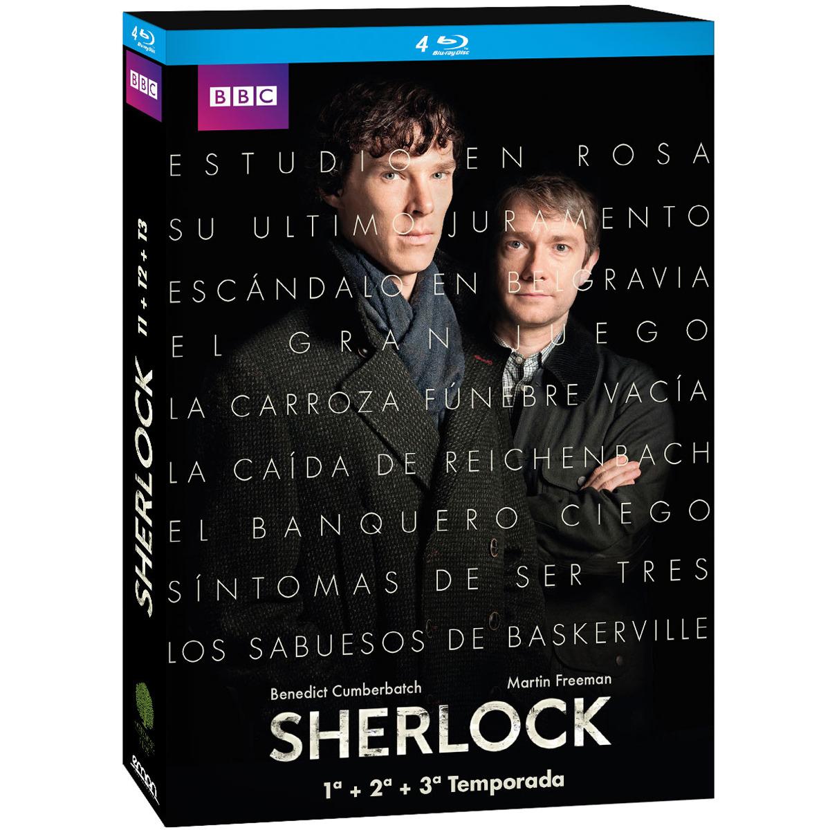 Pack Sherlock: Temporadas 1-3 (Blu-Ray)