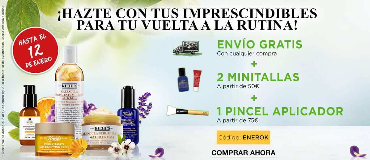 Promo Kiehls ENVIO GRATIS + 2 MINITALLAS+ PINCEL APLICADOR + 5 MUESTRAS GRATIS por tu compra.