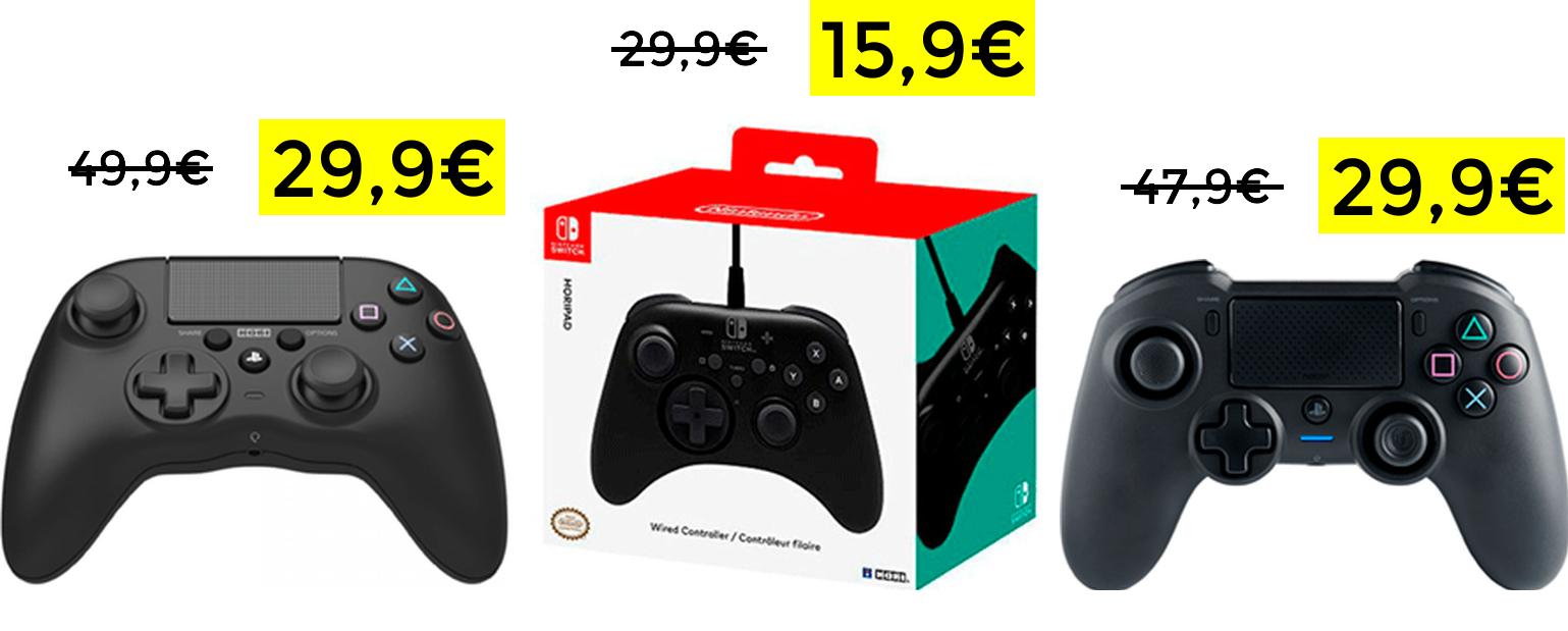 Preciazos mandos PS4, PC y Switch
