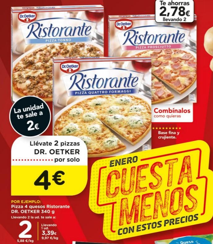 2 Pizzas Ristorante por 4€, chocolate Lindt a 1,59€ y otros ofertones de la semana