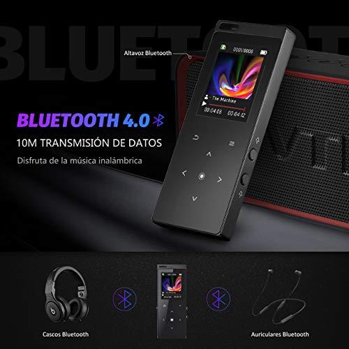 Reproductor de MP3 Bluetooth 4.0 con radio FM de alta fidelidad de 8GB por 14.99€