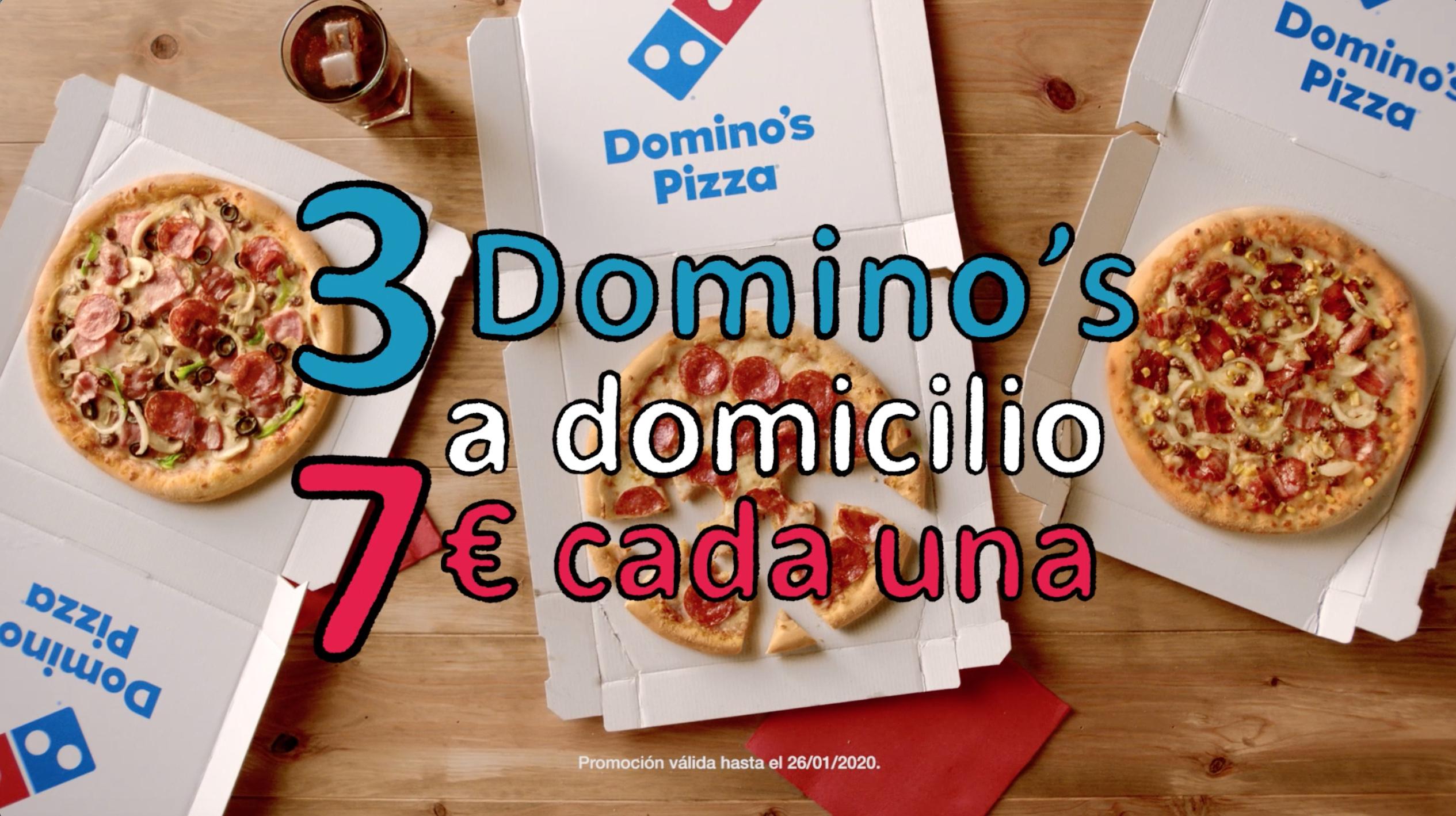 Domino's Pizza te ayuda a superar la cuesta de enero: 3 Pizzas por 21€
