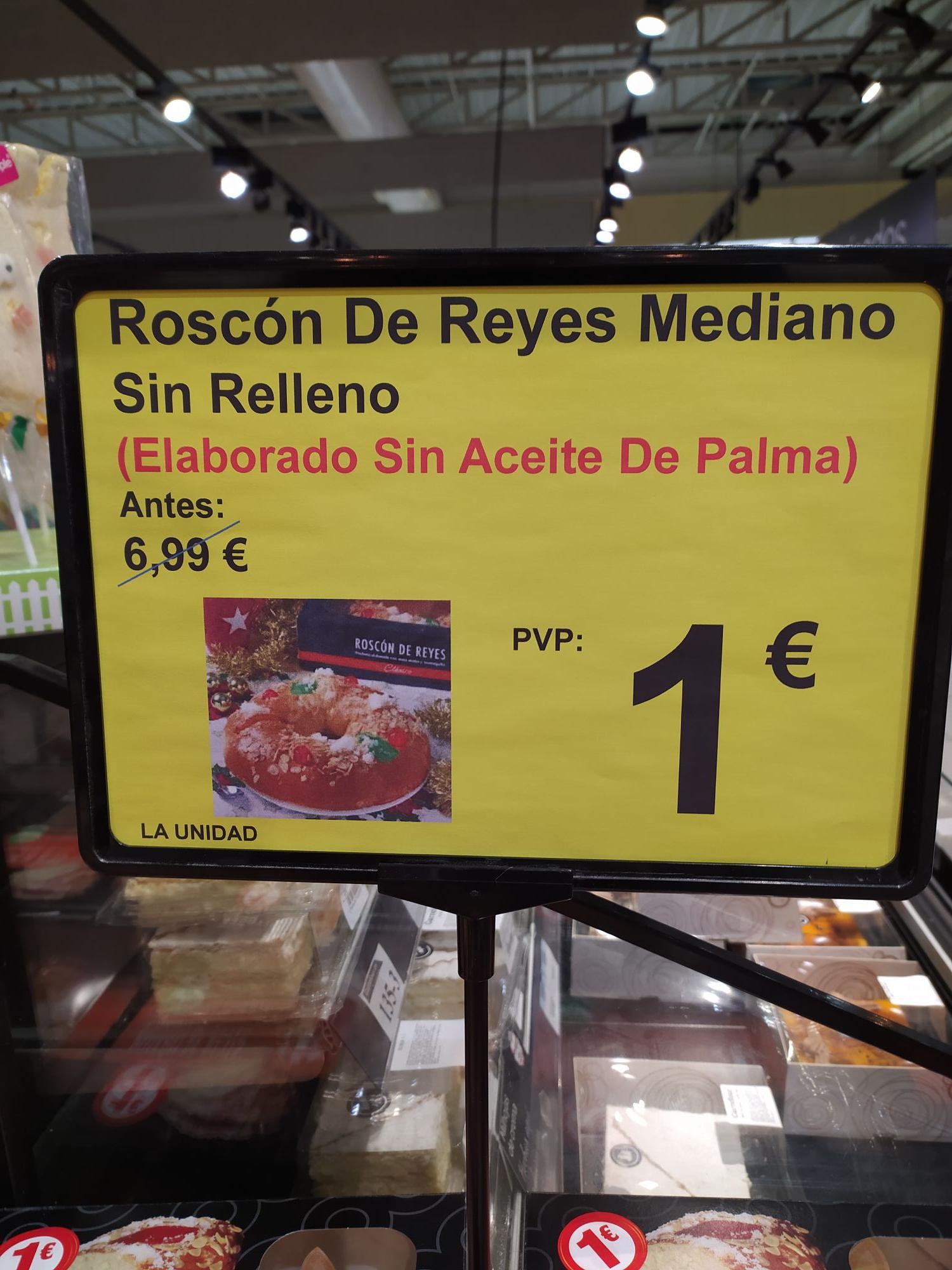 Roscón de reyes Carrefour (Majadahonda) 1€