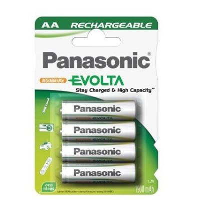 4x Pilas Recargables AA Panasonic 1900mAh