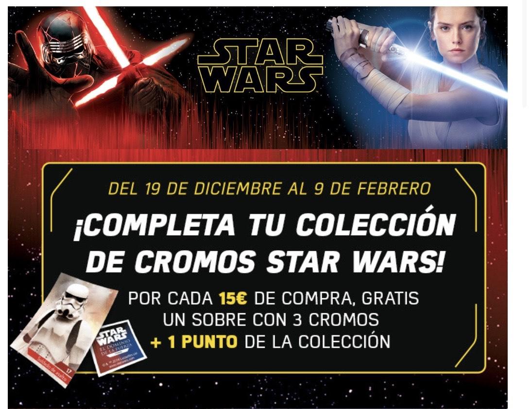 Cromos Star Wars IX GRATIS (compras +15€) + 1 punto canjeable