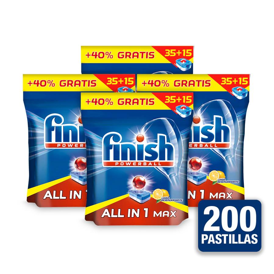 Finish All in One Max Limón 200 pastillas