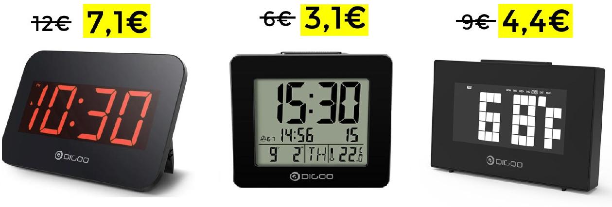 Preciazos relojes despertadores Digoo - Desde 3.1€