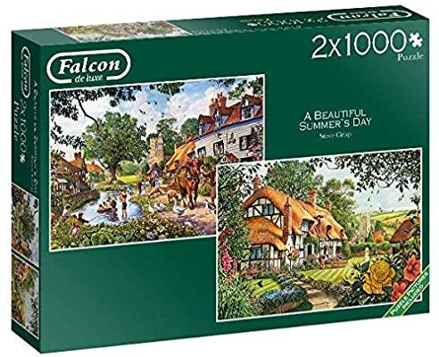 2 puzzles reaco 1000 piezas cada uno en una caja