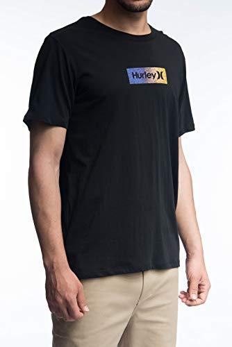 TALLA L - Hurley Hue Prem tee SS Geo Camiseta para Hombre