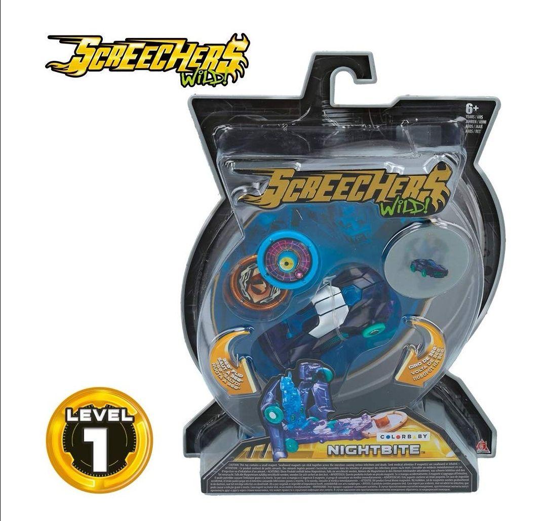 Screechers Wild – Nitebite – Vehículo Nivel 1.(Reaco como nuevo)