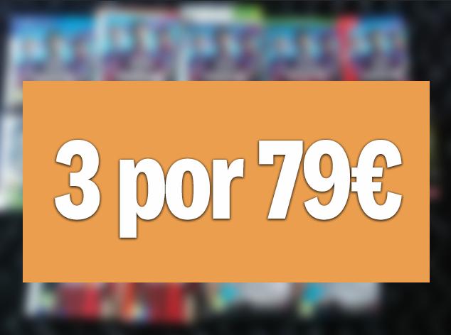 3 juegos PC/PS4/XOne/Switch a elegir de selección por 79€