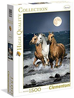 Puzzle Clementoni 1500 piezas caballos bajo la luna