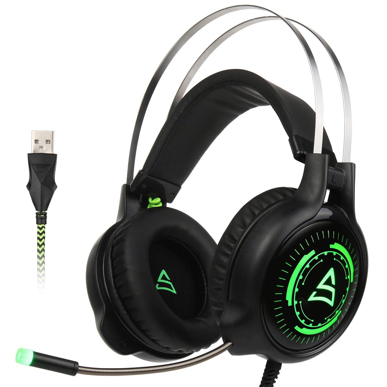 Auriculares Gaming RGB con micrófono de aislamiento y control de volúmen