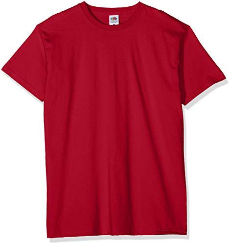 (PLUS) - (PACK 5 CAMISETAS) - TALLA S - Fruit of the Loom Camiseta para Hombre