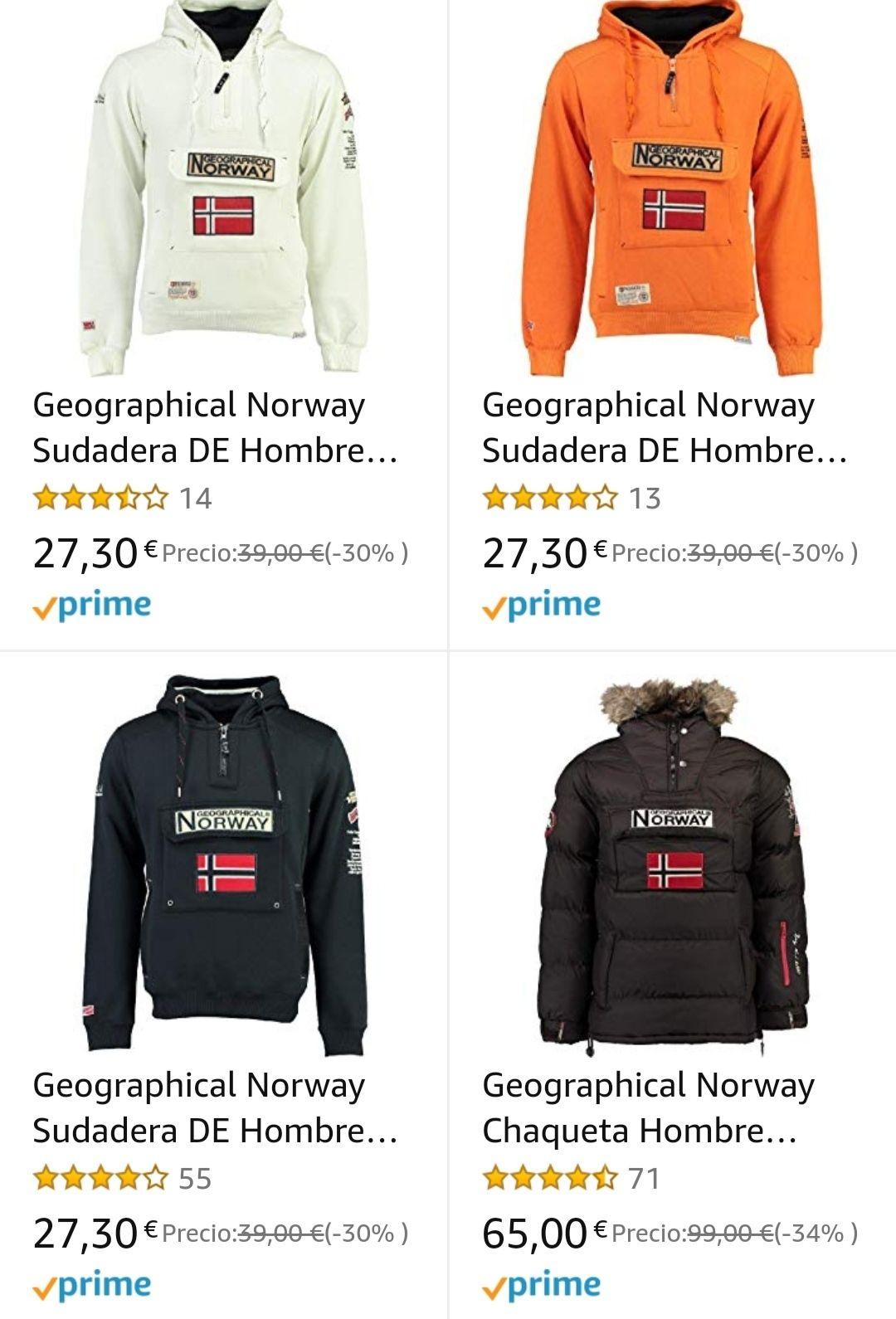 Recopilación de ofertas en sudaderas y chaquetas marca Geographical Norway