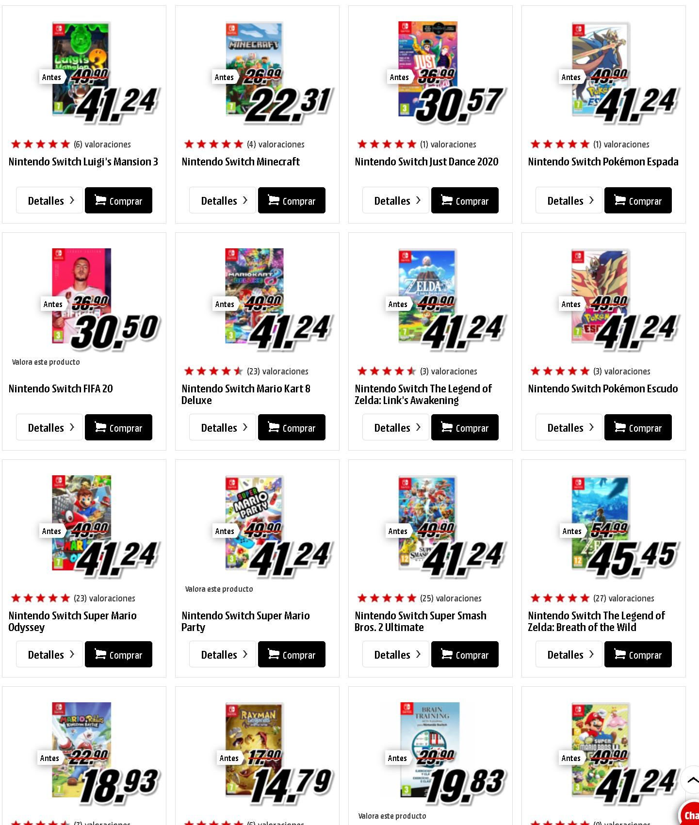 Juegos varios switch a muy buen precio (mínimo histórico en varios)