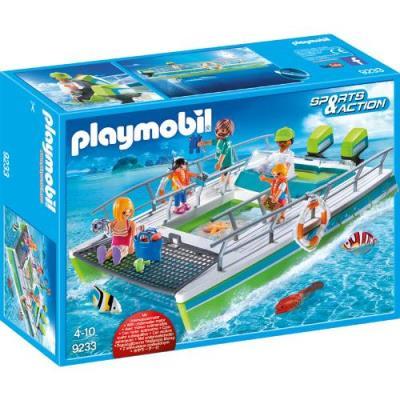 Playmobil Barco vistas fondo marino con motor submarino, Construcción A partir de 4 años