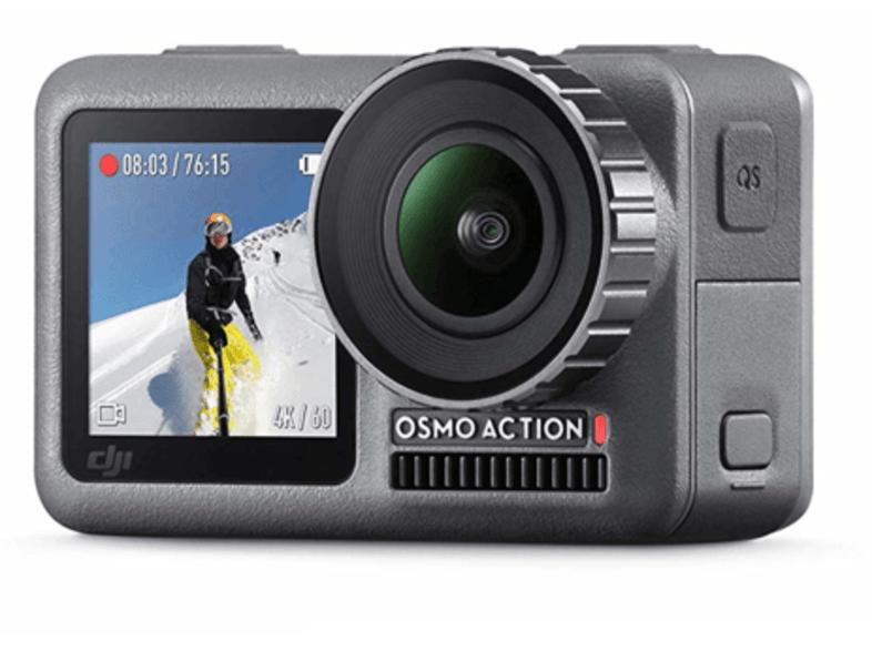 Cámara deportiva - DJI Osmo Action, Sensor CMOS, 12 MP, Vídeo 4K, ISO 100-3200, Wi-Fi, Negro