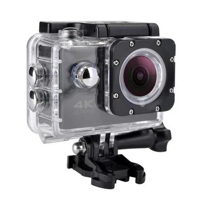 16MP 4K FHD 1080P 2.0 LCD WIFI Waterproof 30M Action Sports Camera  -  BLACK