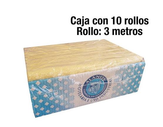 10X Rollos de gamuzas para cristales de 3 metros cada una