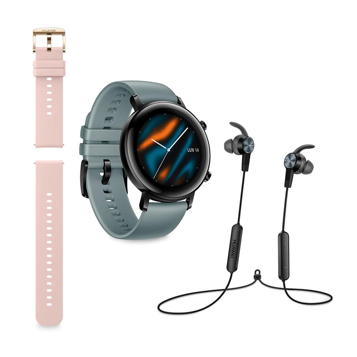 Huawei watch GT2 con correa adicional y auriculares Bluetooth