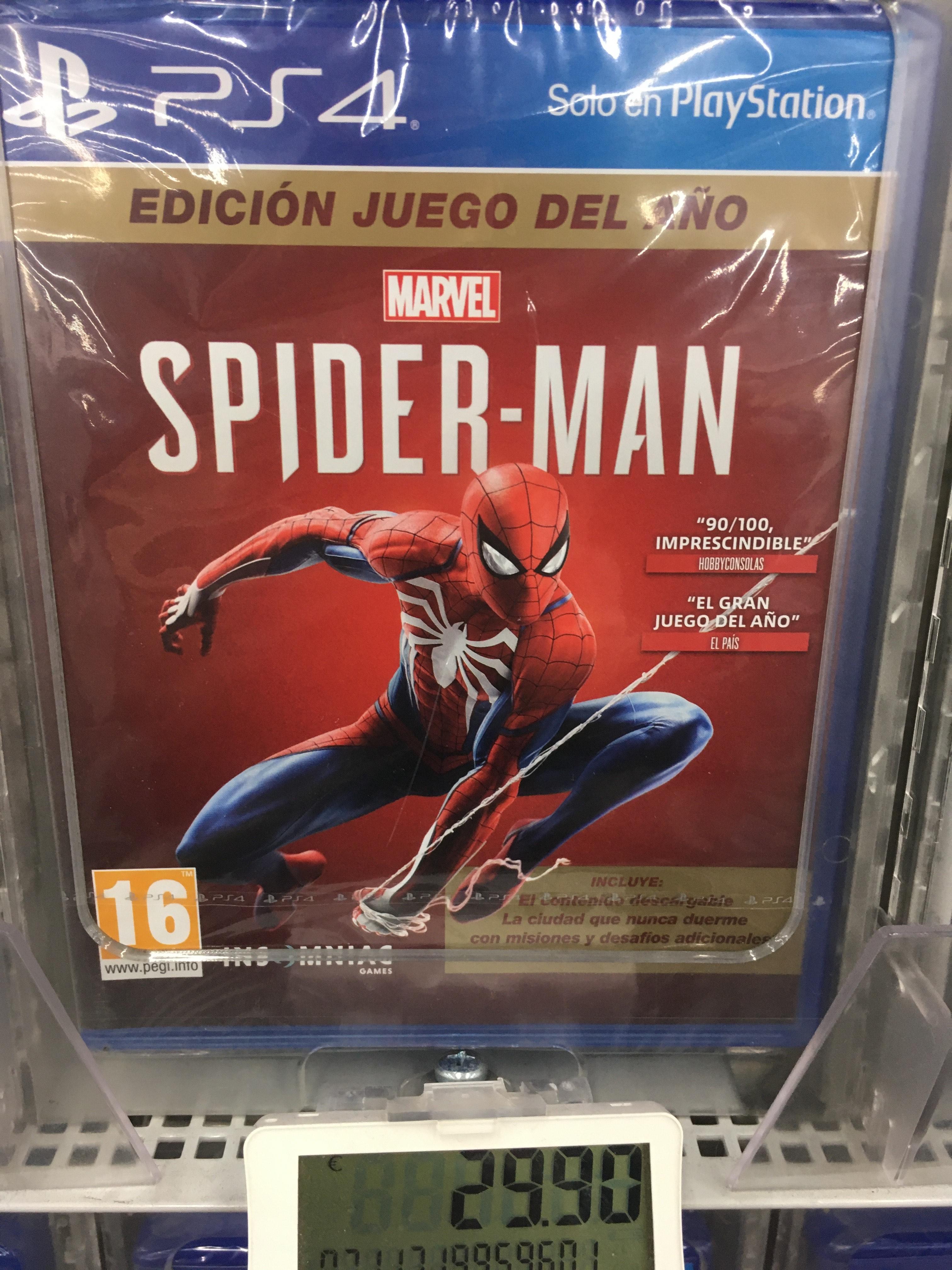 Spiderman Goty ps4. MediaMarkt Tienda física