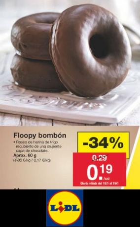 (SOLO 18/01/2020) - Floopy Bombon en LIDL por solo 0.19€/Unidad