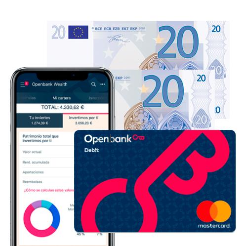 40€ con Openbank al abrir cuenta corriente sin comisiones