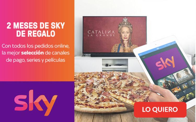 2 meses de Sky GRATIS con Telepizza