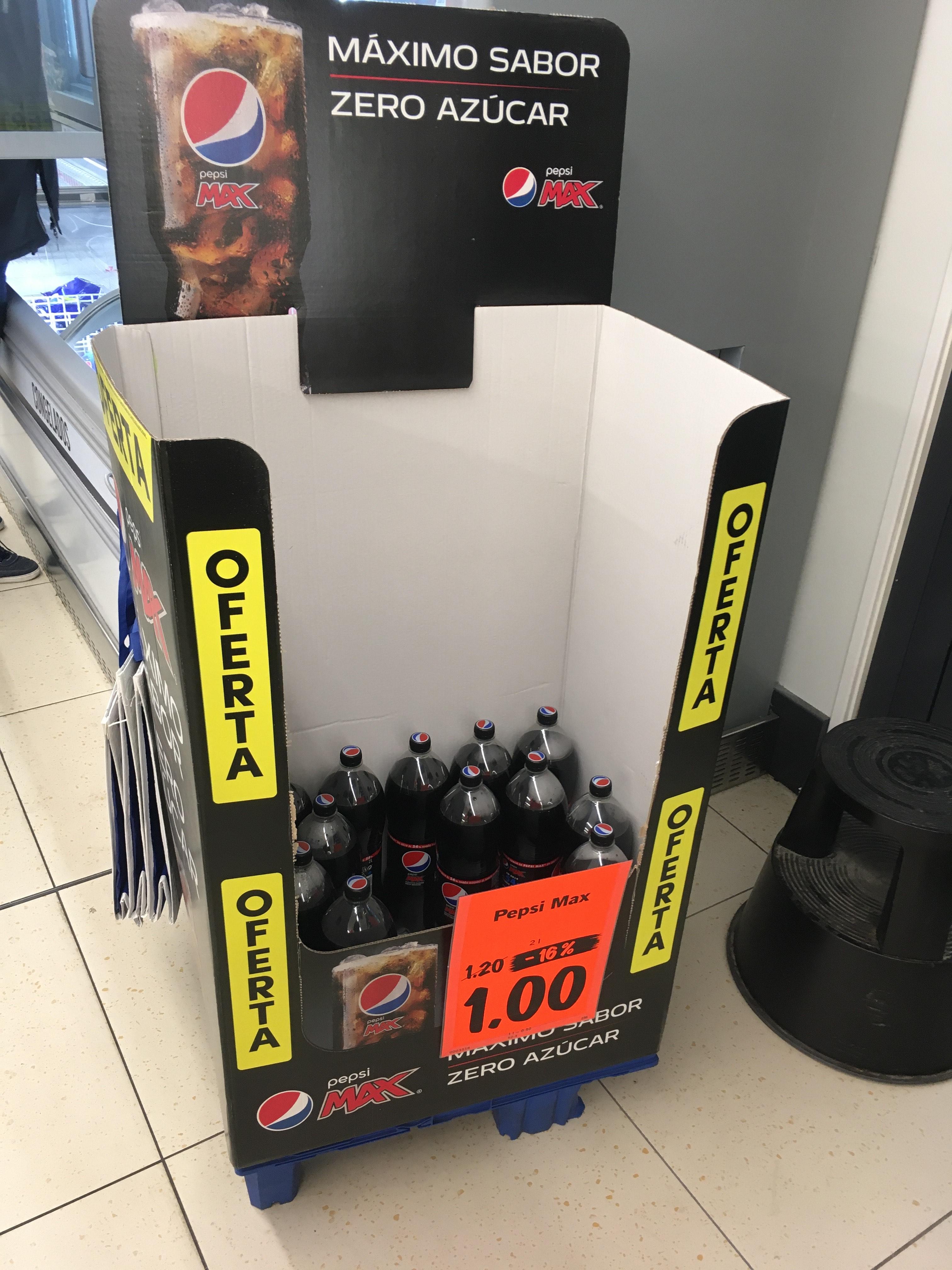 Pepsi Max 2L a 1€ Lidl Malaga