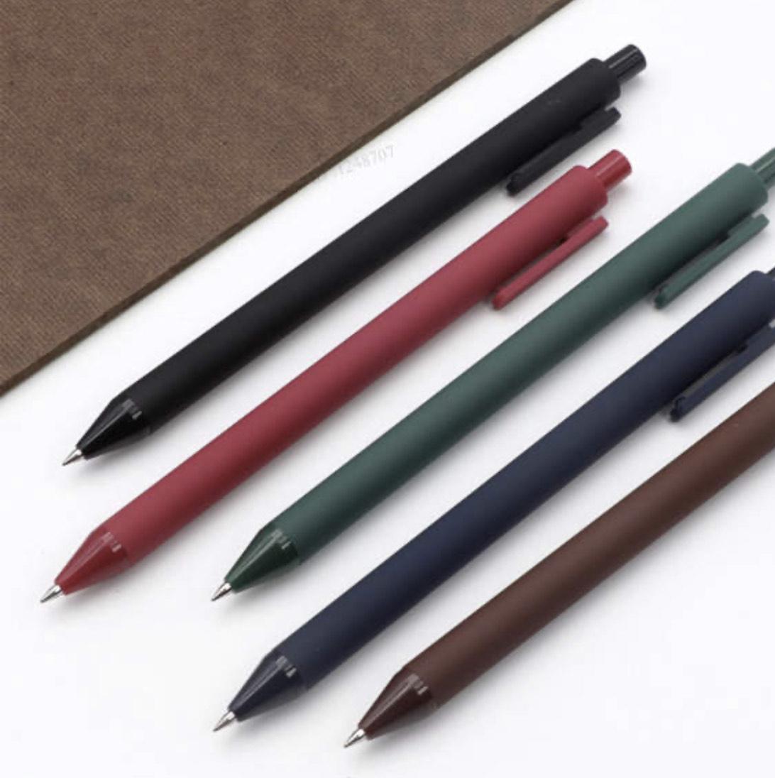 5 Bolígrafos de tinta de gel Xiaomi Kaco en 5 colores por 3,15€