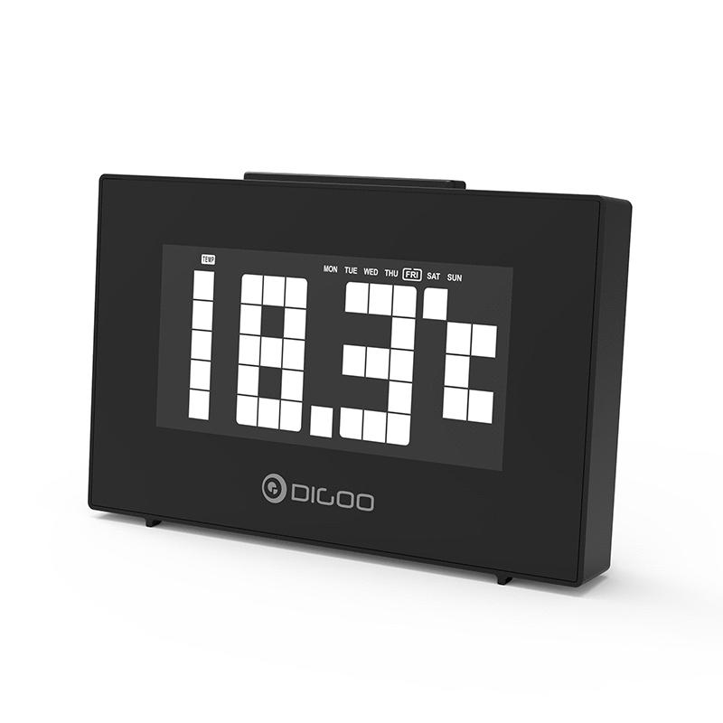 Despertador Digoo con temperatura y alarma dual