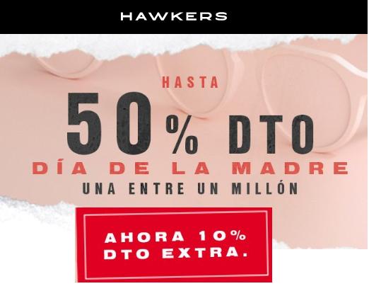 50% descuento en Hawkers + 10% extra