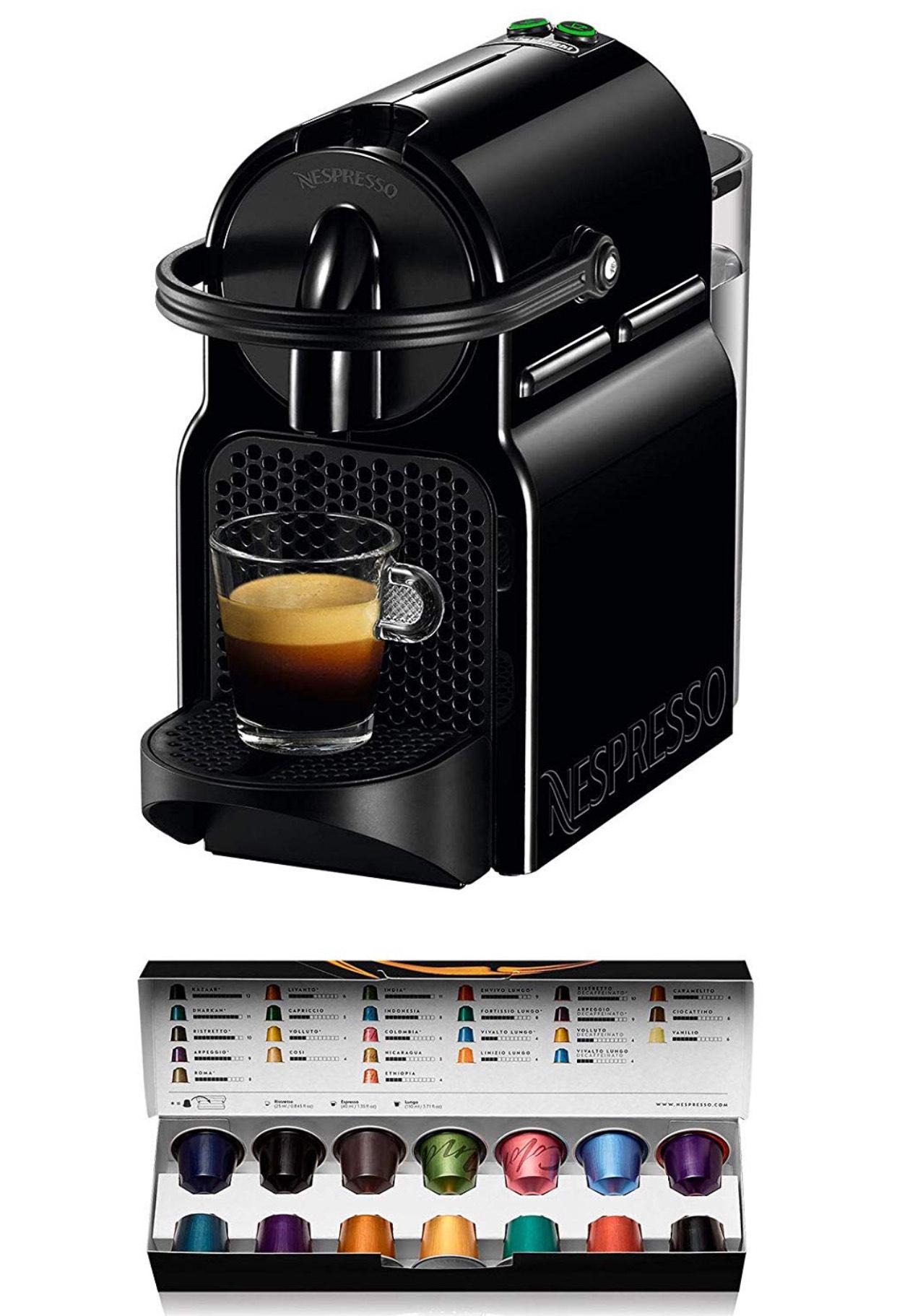 Nespresso Inissia Negra (+20€ de descuento en cápsulas sin pedido mínimo)