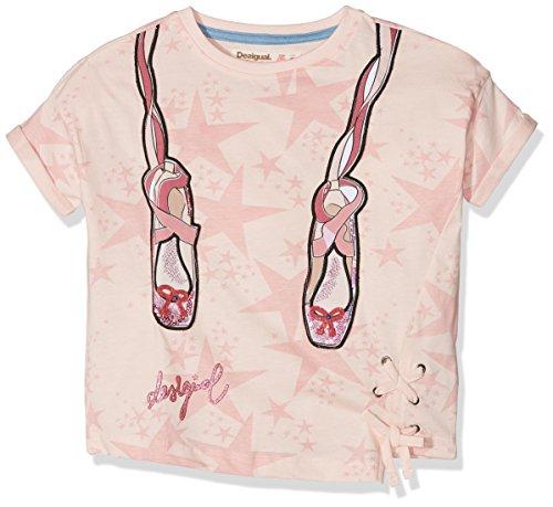 Desigual TS_Elena Camiseta, Rosa Palido 3025, 164 (Talla del Fabricante: 13/14) para Niñas