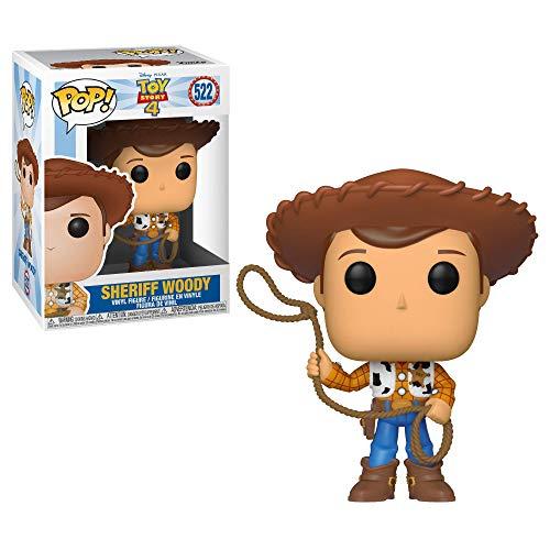 Funko- Pop Vinilo: Disney: Toy Story 4: Woody Figura Coleccionable, Multicolor, Talla Única (37383)