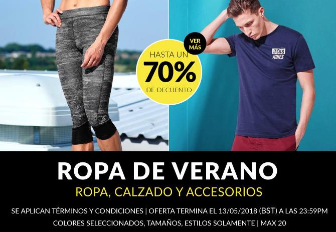 Sportsdirect: Hasta 70% de descuento  en Ropa, calzado y accesorios de Verano