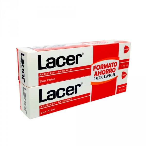 Lacer Duplo Pasta de dientes Formato Ahorro 2x125 ml