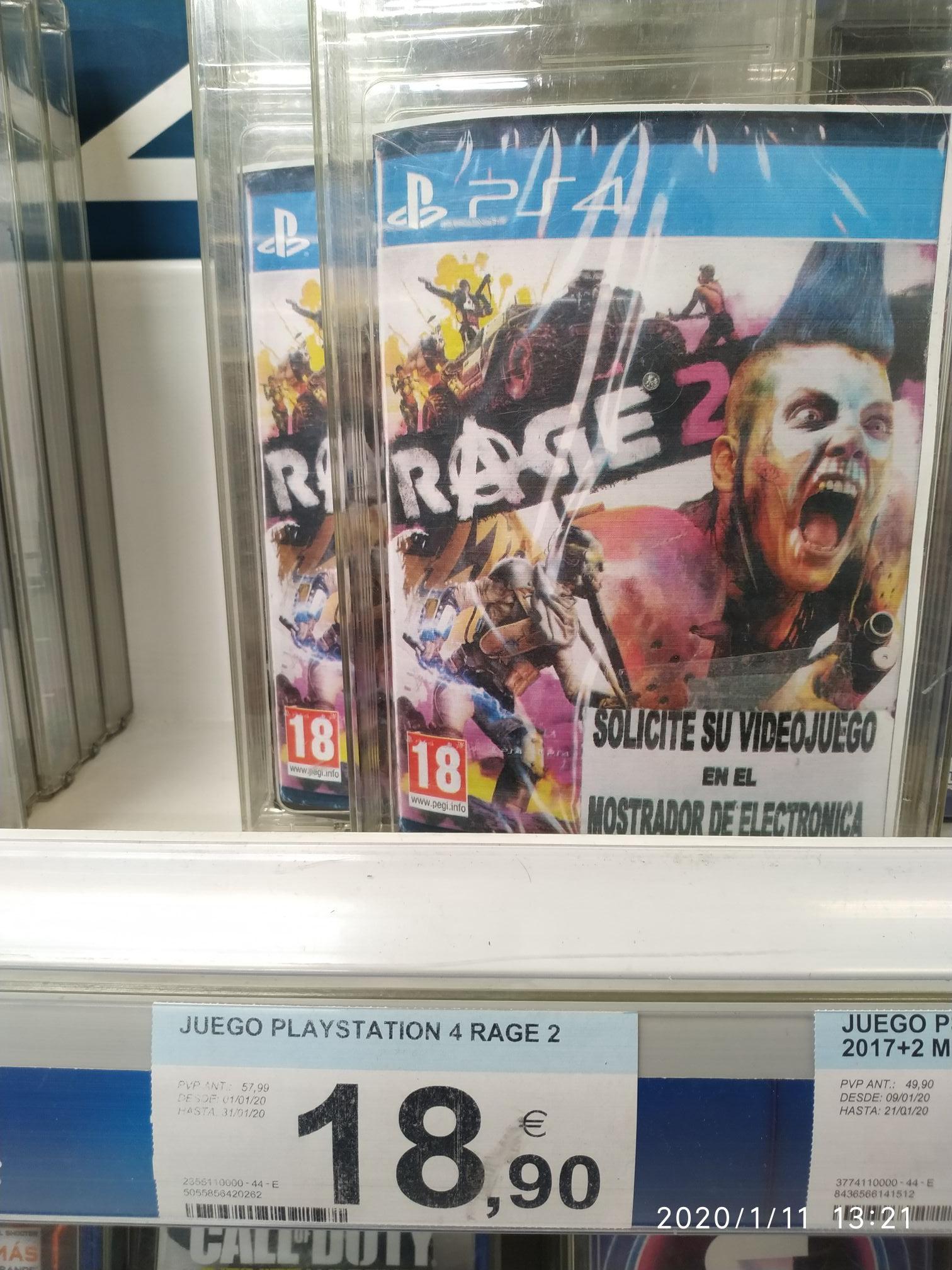 Rage 2 ps4 (Carrefour Aluche)