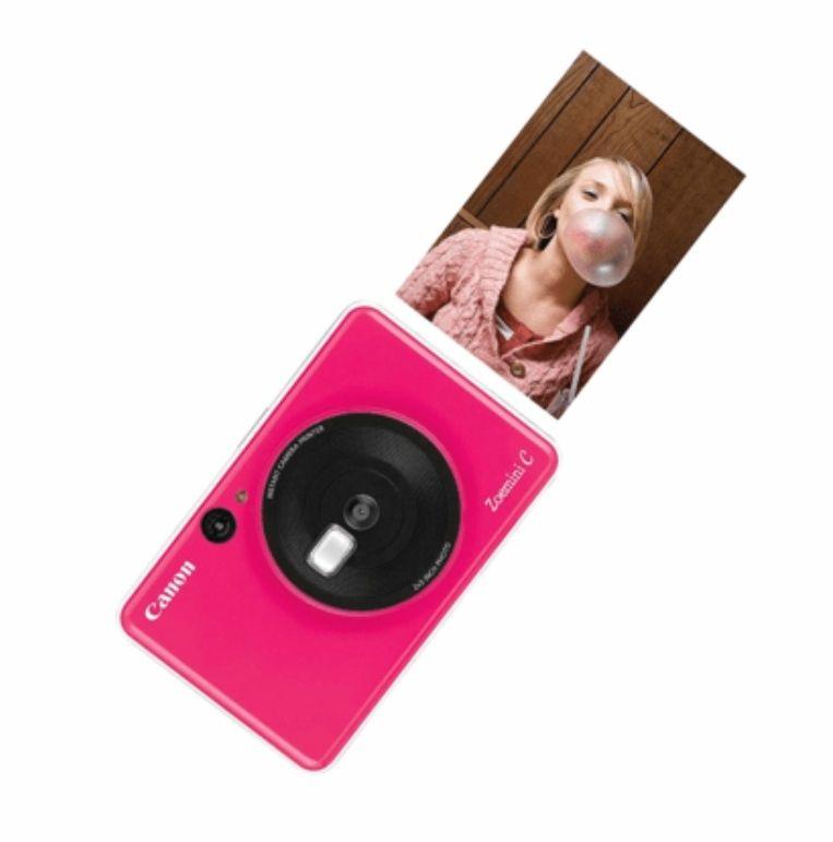Cámara instantánea - Canon Zoemini C, 5MP, 314x500 ppp, Espejo selfie, 10 hojas, MicroSD, Rosa