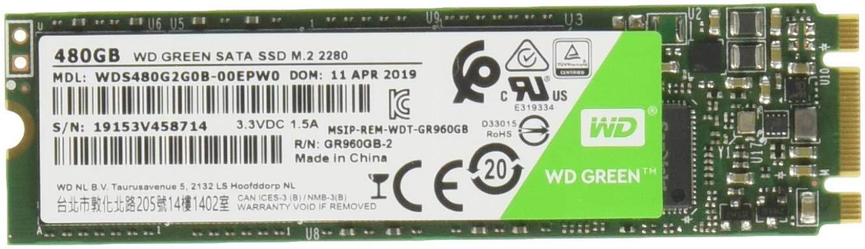 Amazon - SSD M.2 SATA WD Green 480GB
